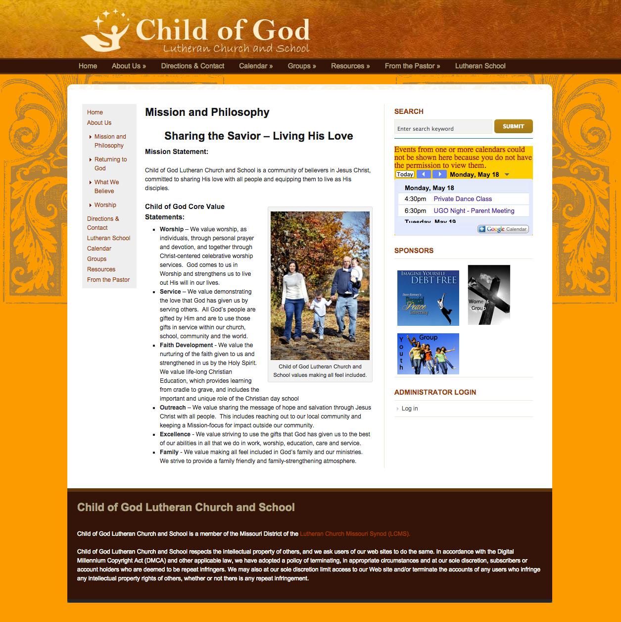 Child of God | Church Website